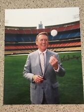 VIN SCULLY VOICE OF THE LA/BROOKLYN DODGERS FORD C FRICK SIGNED AUTO 8X10 #4