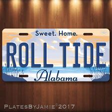 Alabama Crimson Tide License Plate Tag Aluminum Metal Roll Tide New