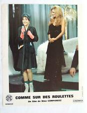 DALIDA COMME SUR DES ROULETTES PHOTO D'EXPLOITATION 1977 LOBBY CARD 24 X 30 CM