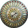 """48"""" x 48"""" center round green marble Table Top marquetry Pietra Dura Inlay decor"""