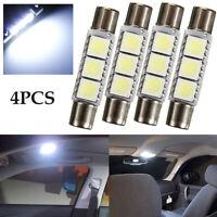 12V HID White 3-SMD 31mm 6641 Fuse LED Bulbs Vanity Mirror Light Sun Visor Lamp