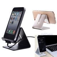 Universal Aluminum Cell Phone Desk Desktop Mount Stand Holder For Phone Tablet