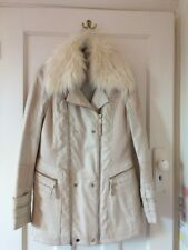 Beautiful river island Cream Leather And Suede Coat 10