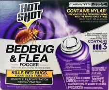 1 Box Hot Shot 6 Oz Bedbug & Flea Lice & Ticks Contains Nylar 3 Count Fogger