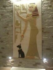 1x Relief Stucco Nefertiti Hathor Flachrelief Ägyptische Ägypten Skulpturen Bild