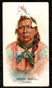 1888 ALLEN & GINTER CELEBRATED AMERICAN INDIAN CHIEFS CIGARETTE CARD IRON BULL