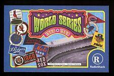 Baseball Postcard Radio Shack 1960 1969 World Series Yankees Dodgers Red Sox Met