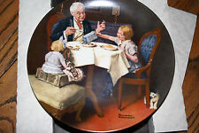 "Knowles ""The Gourmet"" by Norman Rockwell Limited Edition Collector Plate"
