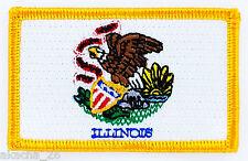 Ecusson Brodé PATCH drapeau Illinois AMERICAIN USA ETATS UNIS FLAG EMBROIDERED