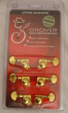GROVER 406G GOLD MINI LOCKING GUITAR TUNERS  MACHINE HEADS!