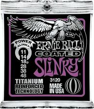 Ernie Ball 3120 Coated Electric Titanium Power Slinky Guitar Strings 11-48