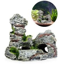 Fish Tank Ornament Aquarium Decoration Cave Decor Artificial Stone Rockery Resin