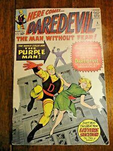 Daredevil #4 Silver Age Key VG+ 1st Purple Man Killgrave Kirby Stan Lee Marvel
