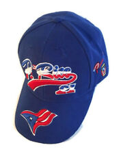 Puerto Rico Clemente #21 Baseball Cap Hat Royal Blue Embroidered Flag Adjustable