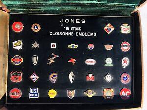 Vintage Cloisonne Emblems- Salesman's Sample Case