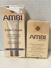 Ambi Skincare Fade Cream for Dark Spot  2oz  Oily Skin. Ambi +cocoa butter Bar
