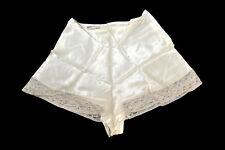 Rare Vintage Alida Ivory Satin Panties Lace Side Opening sz 28 Unworn!