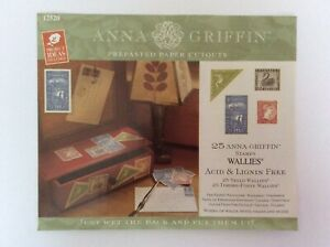 Wallies Wallpaper Cutouts 25xAnna Griffin Stamps Wall Decal Furniture Decoupage