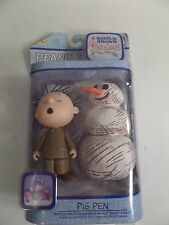 PEANUTS A Charlie Brown Christmas PIG PEN and SNOWMAN Action Figure NIP