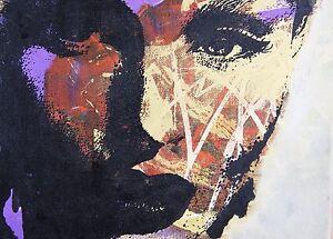 150cmx 100cm  CANVAS modern painting Graffiti Street Art  Print girl woman face