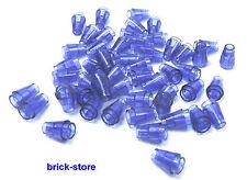 LEGO Violet transperant / 1x1 Ronde Conique / QUILLES, pierres / 50 pièce