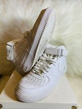 Nike Mens Air Force 1 Basketball Shoes White 315123-111 Mid Top size 11.5