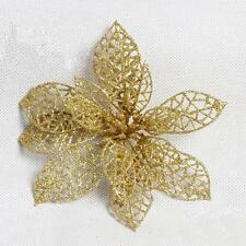 Gold Flower Simplicity Christmas Tree Ornament Xmas Wedding Party Decoration U