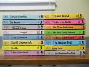 Lot of 16 Moby Books Classic Illustrated Editions - Treasure Island, Tom Sawyer