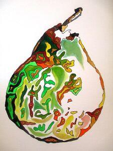 ORIGINAL ART - Pear watercolour A4