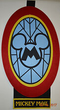 Disney Corporate Office Mail Room Cart Mickey Mail Felt Sign Prop Big Park Mouse
