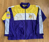 Minnesota Vikings Vintage 90's APEX ONE Full Zip Windbreaker XL EUC Rare SKOL