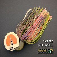 Bassdozer BLADED jigs. 1/2 oz BLUEGILL bass swim jig