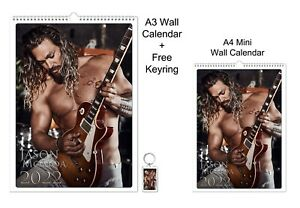 Jason Momoa 2022 A3 A4 Wall Office Calendar + Key Ring