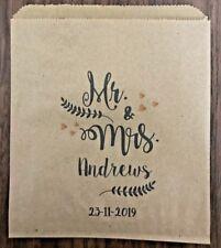 Personalised Wedding Sweet, Candy Cart, Cake & Favour Bags Kraft brown