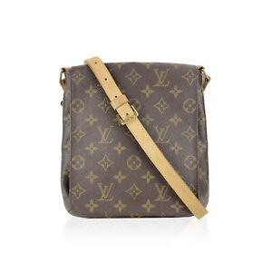 Authentic Louis Vuitton Monogram Canvas Musette PM Messenger Bag