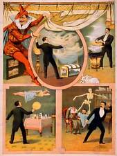 THEATRE VAUDEVILLE ILLUSION MAGIC USA VINTAGE RETRO ADVERTISING POSTER 2213PY