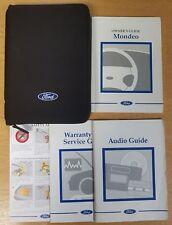 GENUINE FORD MONDEO 2000-2003 HANDBOOK OWNERS MANUAL WALLET PACK F-67