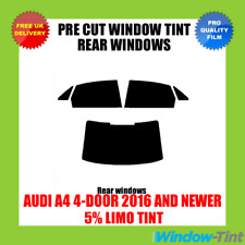 AUDI A4 4-DOOR 2016+ 5% LIMO REAR PRE CUT WINDOW TINT