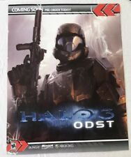 """Halo 3 ODST XBOX 360 Store Sign Poster 28""""x22"""" RARE - Game Room Decor"""