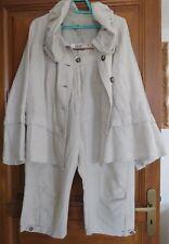 Ensemble beige lin coton veste pantalon Coccinelle Taille 46 pantalon 50 veste