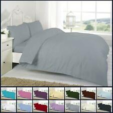 Percale Duvet Cover Set Double Size Single Super King Non Iron Bedding Quilt New