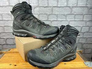 SALOMON MENS UK 12.5 EU 48 QUEST 3 4D GTX GORE-TEX BLACK WALKING BOOTS RRP £180