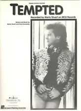 """MARTY STUART """"TEMPTED"""" SHEET MUSIC-PIANO/VOCAL/GUITAR/CHORDS-VERY RARE-BRAND NEW"""