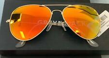 GREY JACK Polarized Classic Aviator Shaped Sunglasses ORANGE  Lens 62mm