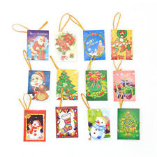 Lots 10Pcs Christmas Tree Decorative Pendant  XMAS  Blessing Card Wishing Card