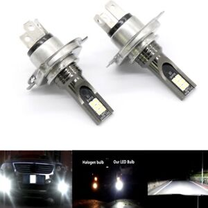 H4 9003 HB2 3030 LED Headlight High Low Beam Bulb Kit 6000K White 55W 8000LM