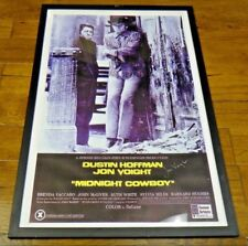 Midnight Cowboy Jon Voight Signed Movie Poster Framed PSA/JSA Guarantee