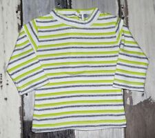 🌺 Tee-shirt ML rayé jaune et gris KIABI garçon 1 mois 🌺