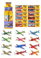 4 Flying Plane Gliders -Polystyrene Pinata Toy Party Bag Fillers Stocking Filler