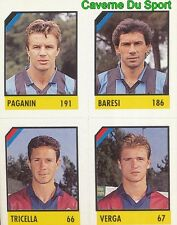125 PAGANIN - BARESI - TRICELLA - VERGA CARD CARTA CALCIO QUIZ VALLARDI 1991